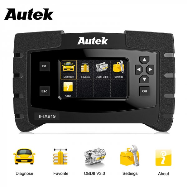 Autek IFIX919 Automotive Scanner Full System Car OBD2 Diagnostic Tool