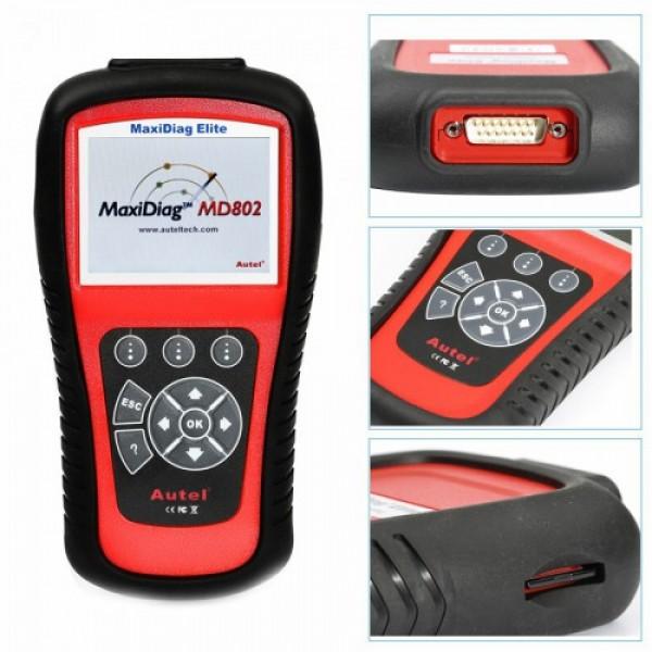 MaxiDiag Elite MD802 For 4 System Code Scanner