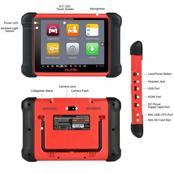 Autel MaxiCOM MK906BT OBD2 Diagnostic Scanner with Bluetooth VCI Box