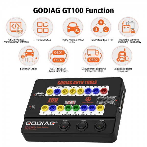 GODIAG GT100 Breakout Box ECU Tool with BMW CAS4 CAS4+ and FEM/BDC Test Platform Full Package