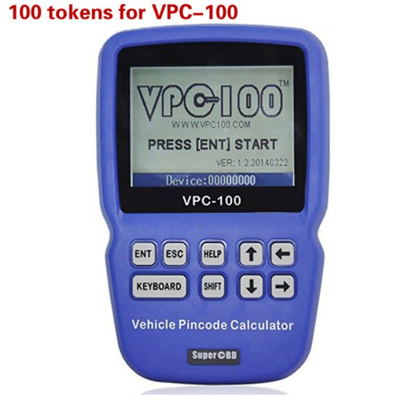 Tokens for VPC-100 Hand-Held Vehicle Pin Code Calculator