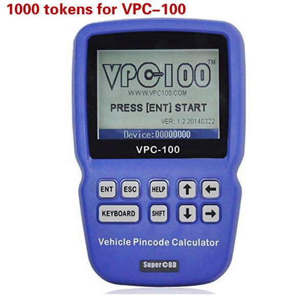 Tokens for VPC-100 Hand-Held Vehicle Pin Code Calculator