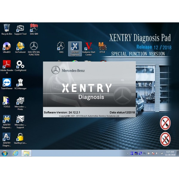 V2018.12 Das Xentry HDD Software with HHT Vediamo and DTS Manoco For Benz SD Connect C4 C5