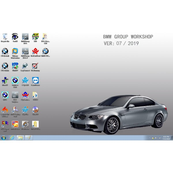 V2019.07 Win7 Rheingold ISTA-D and SDP V4.18.12 for BMW ICOM with Engineer Programming