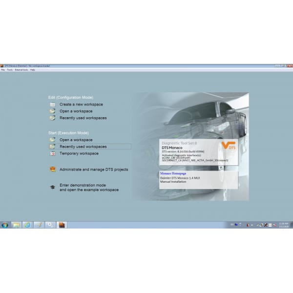 V2020.03 Das Xentry HDD Software with HHT Vediamo and DTS Manoco For Benz SD Connect C4 C5