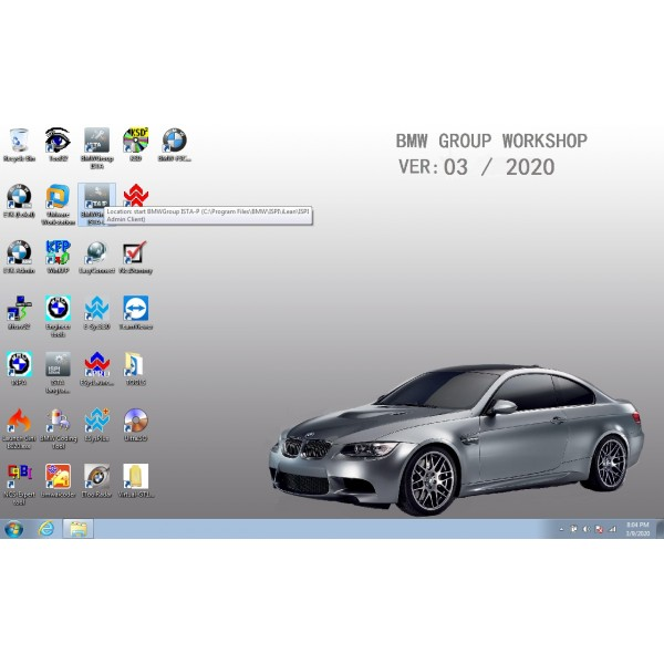 V2020.03 Win7 Rheingold ISTA-D V4.21.31 and SDP V4.21.32 for BMW ICOM with Engineer Programming