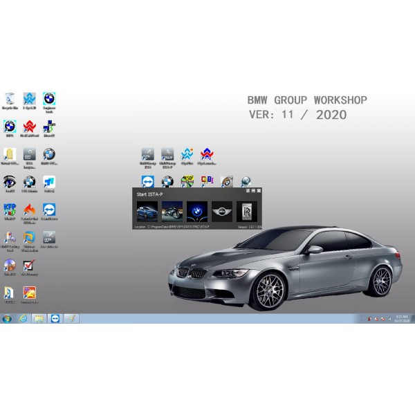 V2021.01 Win7 Rheingold ISTA-D V4.25 and ISTA-P V3.67.1 for BMW ICOM with Engineer Programming