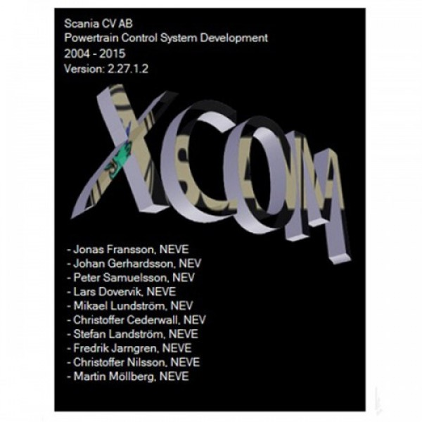XCOM-SOPS-Scania SDP3-BNS II SCANIA DEVELOPER Software Support Win XP/Vista/7/8