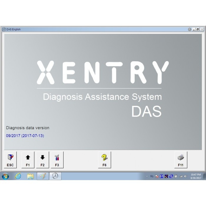 V2017 09 Das Xentry HDD Software with Pkw Offline For Benz SD Connect C4 C5