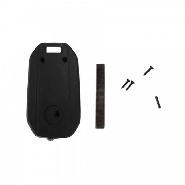 Modified Flip Remote Key Shell 2 Button (HU100) For Opel 5pcs/lot