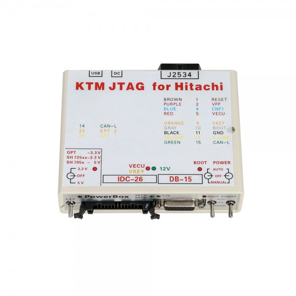 PowerBox for PCMFlash KTM JTAG for Hitachi Fitted with Multipurpose Connectors