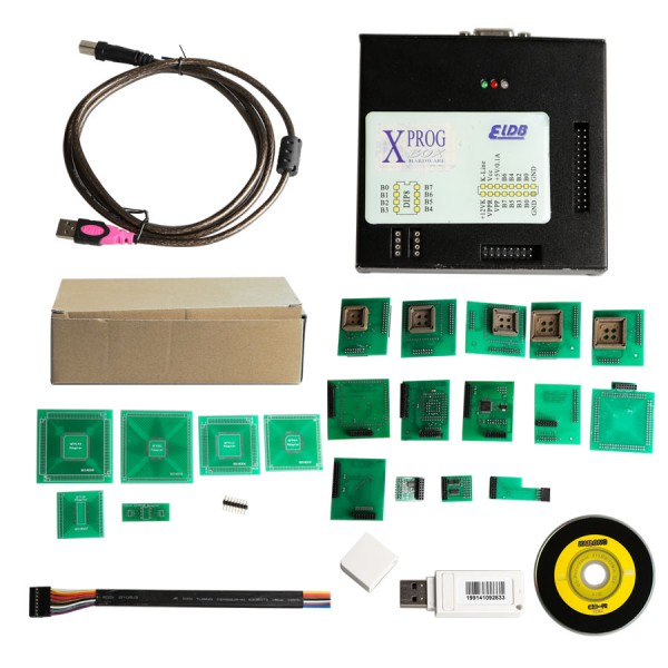 Latest Version X-PROG V5.60 ECU Programmer XPROG-M with USB Dongle
