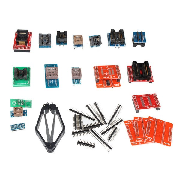 Full set 21 IC adapters work together with Super Mini Pro TL866A/TL866CS EEPROM Programmer