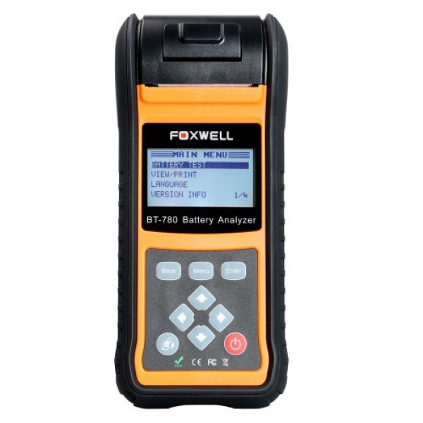Foxwell BT-780 Battery Analyzer with Built-in Thermal Printer