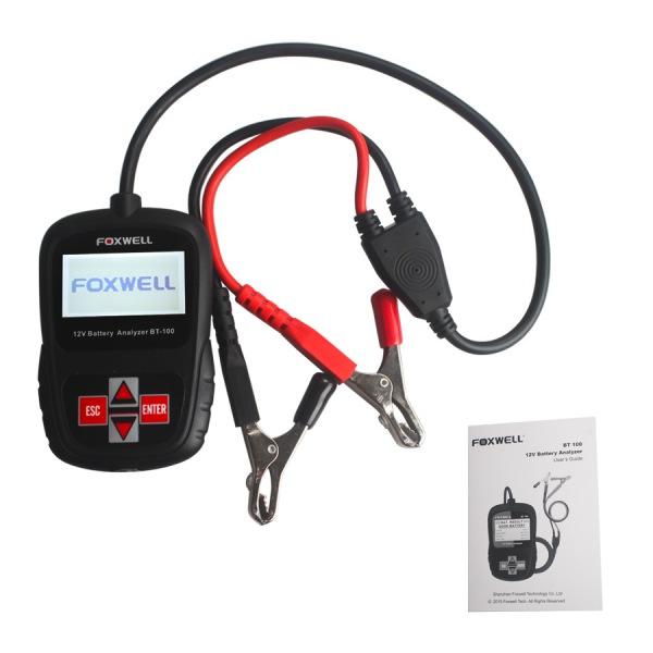 FOXWELL BT100 12V Car Battery Tester for Flooded, AGM, GEL