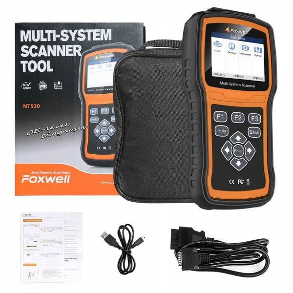 Foxwell NT530 Multi-System Scanner with One Free Car Make