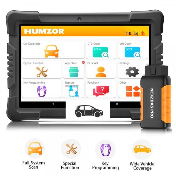 Humzor NexzDAS Pro Bluetooth Tablet Nexpeak Full System Auto Diagnostic Tool 3 Years Free Update