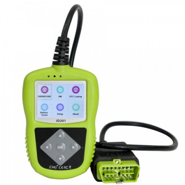 JDiag JD201 Code Reader With Color Screen for OBDII/EOBD/CAN