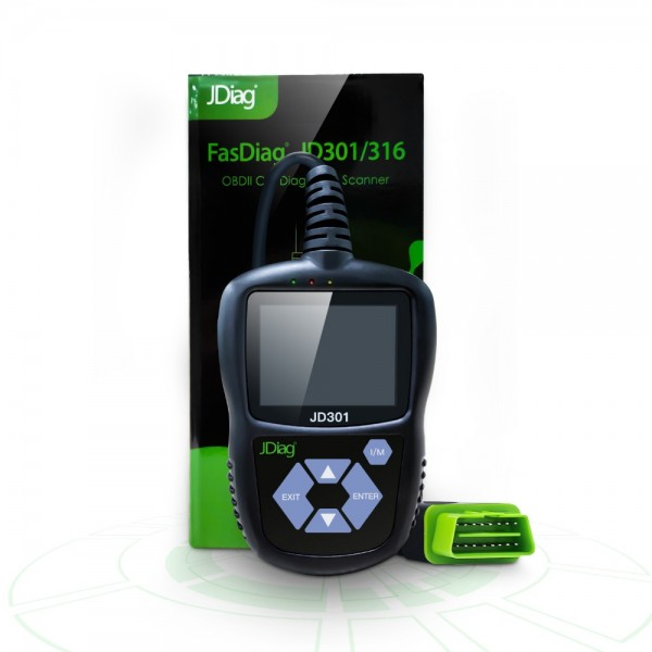 JDiag JD301 Code Reader With Color Screen for OBDII/EOBD/CAN