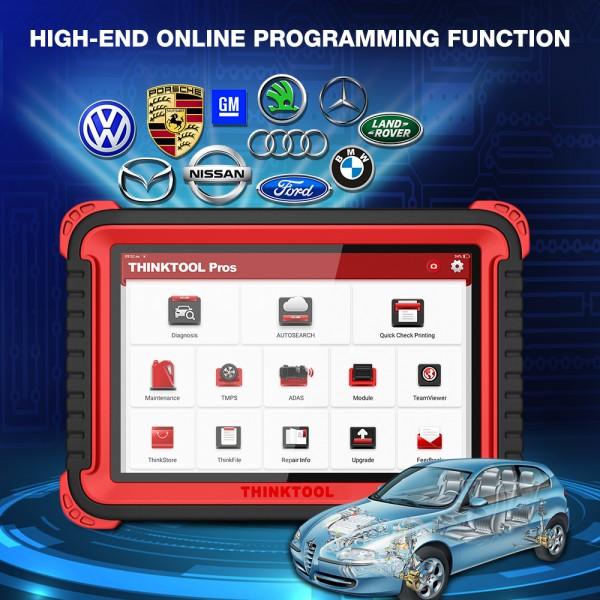 Thinktool Pros For Full System Online Program TPMS Function Optional ADAS Resets For 24V/12V