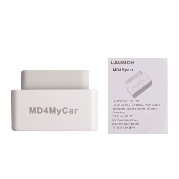 Launch MD4MyCar OBDII EOBD Code Reader Work With iPhone By WiFi