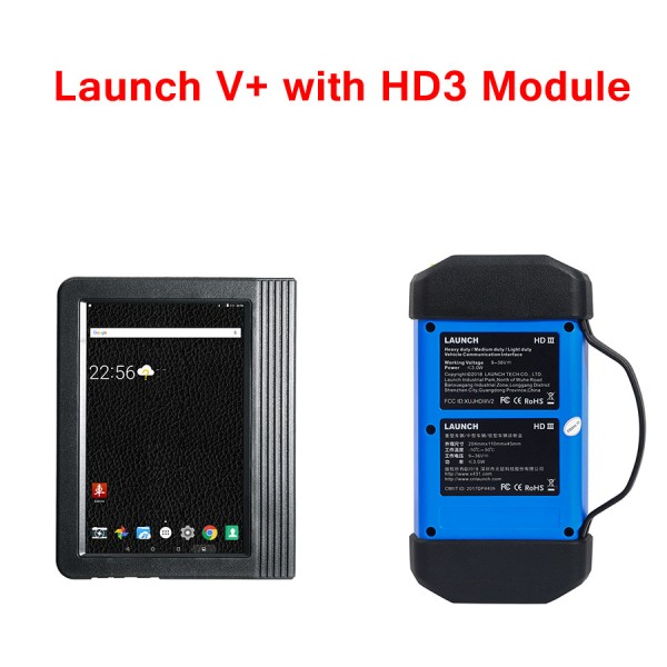 Launch X431 V+ X431 PRO3 Wifi/Bluetooth Plus HD3 Heavy Duty Truck Diagnostic Module (2-in-1 set)