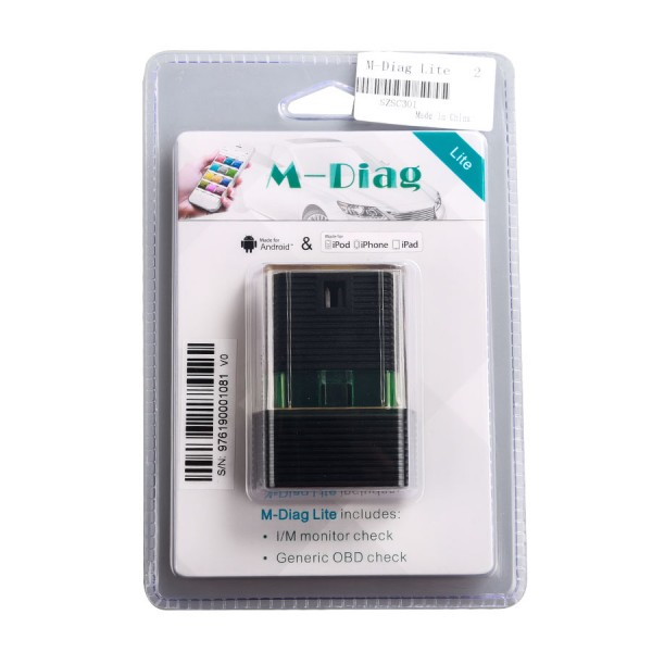 Launch Golo M-Diag Lite with Bluetooth for IOS Android OBDII Diagnostic Tool with Special Functions