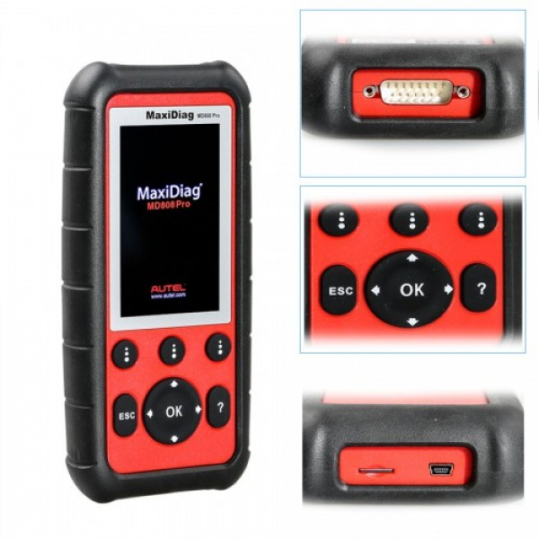 Autel MaxiDiag MD808 Pro All Modules Scanner Code Reader (MD802 ALL+MaxicheckPro)