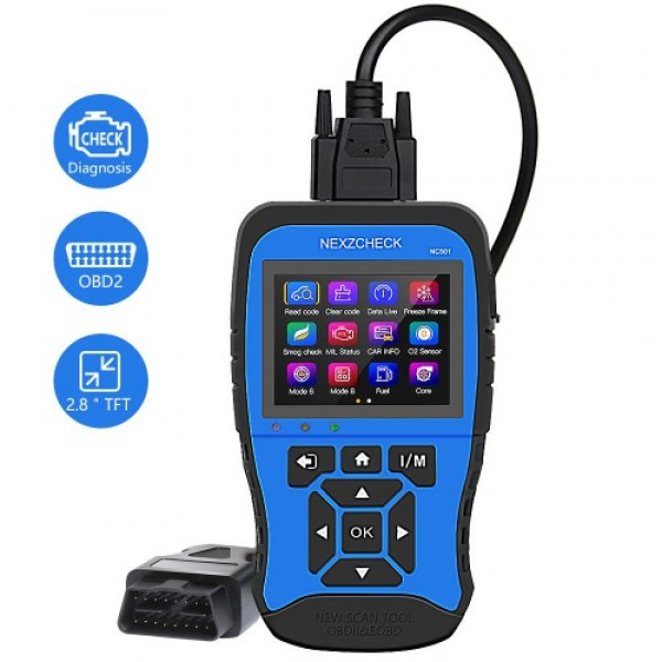 NexzCheck NC501 OBD2 & EOBD Scanner for Universal Vehicles