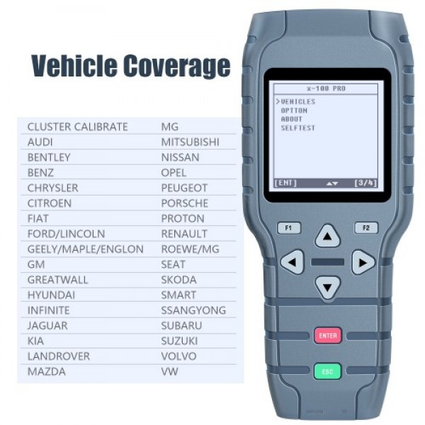OBDSTAR X-100 PRO Auto Key Programmer (C+D) Type for IMMO+Odometer+OBD