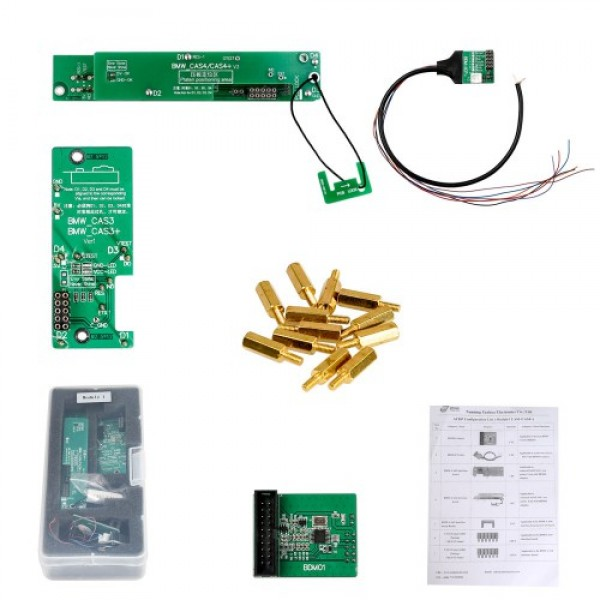 Module1 BMW CAS1 CAS2 CAS3 CAS3+ CAS4 CAS4+ IMMO Key Programming and Odometer Reset For Yanhua Mini ACDP