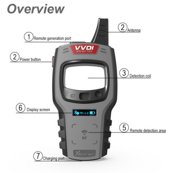 VVDI Mini Key Tool Remote Key Programmer Support IOS and Android
