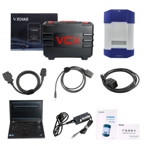 VXDIAG Multi Diagnostic Tool for Full Brands HONDA/GM/VW/FORD/MAZDA/TOYOTA/PIWIS/Subaru/VOLVO/ BMW/BENZ with 2TB HDD & Lenovo T420