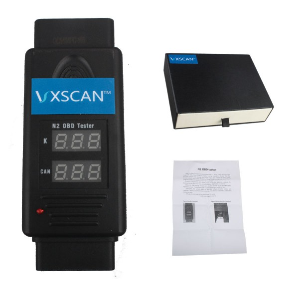VXSCAN N2 OBD Tester for K and CAN Line Test