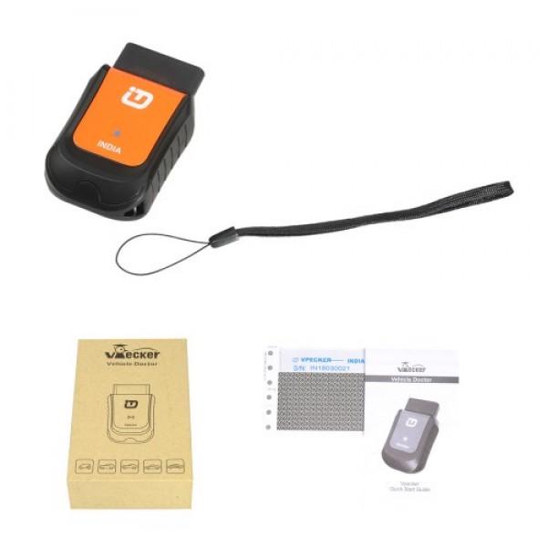 VPECKER V8.2 India Version Wireless OBDII Full Diagnostic Tool