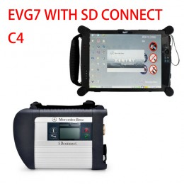 EVG7 tablet with SD Connect C4 Star Diagnosis 2019.03V HDD Software For Benz