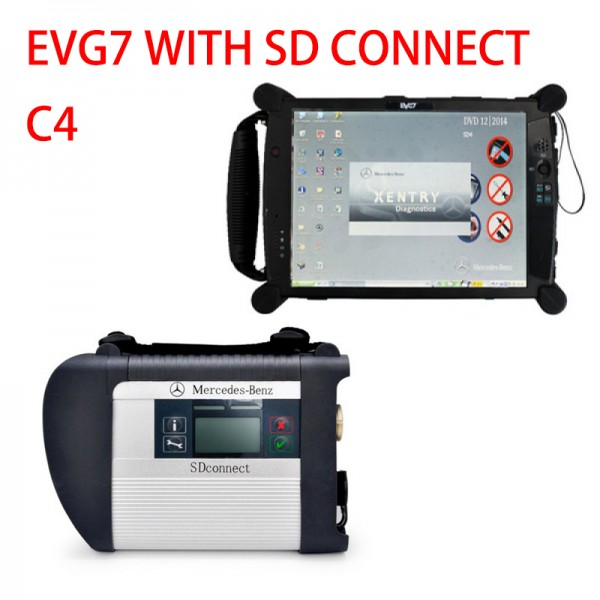 EVG7 tablet with SD Connect C4 Star Diagnosis 2020.03V HDD Software For Benz
