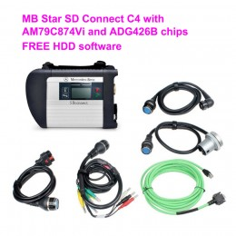 Industrial Grade WIFI MB Star SD Connect C4 with  AM79C874Vi and ADG426B chips For Benz Free V2019.12 software