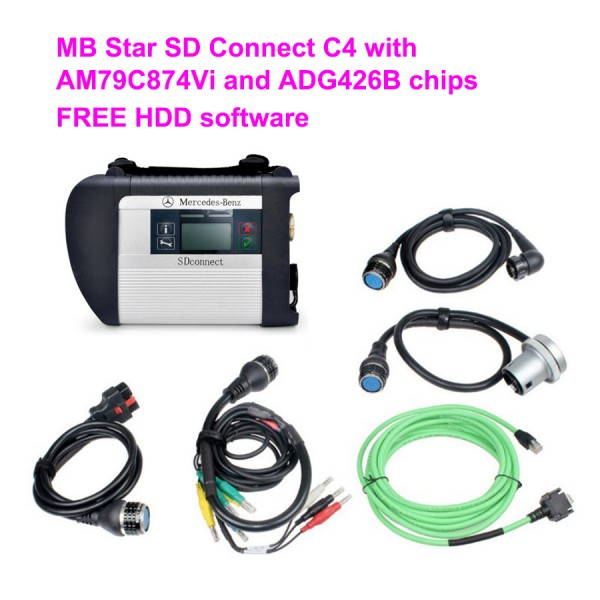 Industrial Grade WIFI MB Star SD Connect C4 with  AM79C874Vi and ADG426B chips For Benz Free V2019.07 software