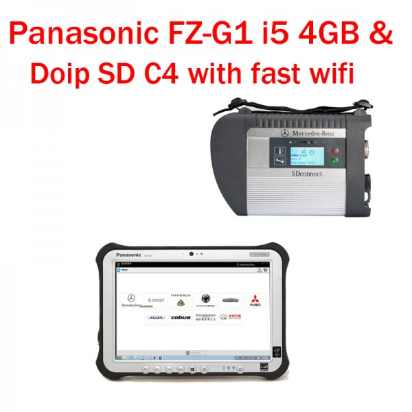 DOIP SD C4 PLUS SD connect c4 Plus Panasonic FZ-G1 Tablet for BENZ Trucks and Cars