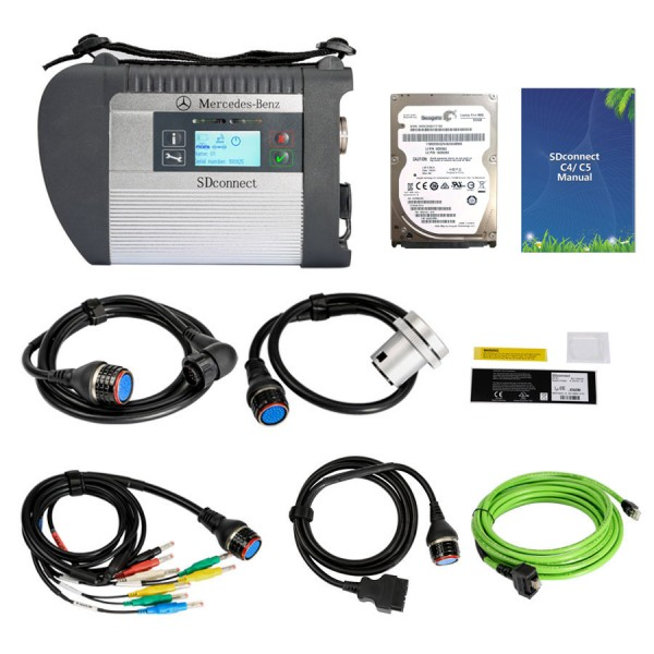 Best Quality A+ V2021.03 HDD WIFI MB Star SDConnect C4 Support Cars and Trucks With Original Report
