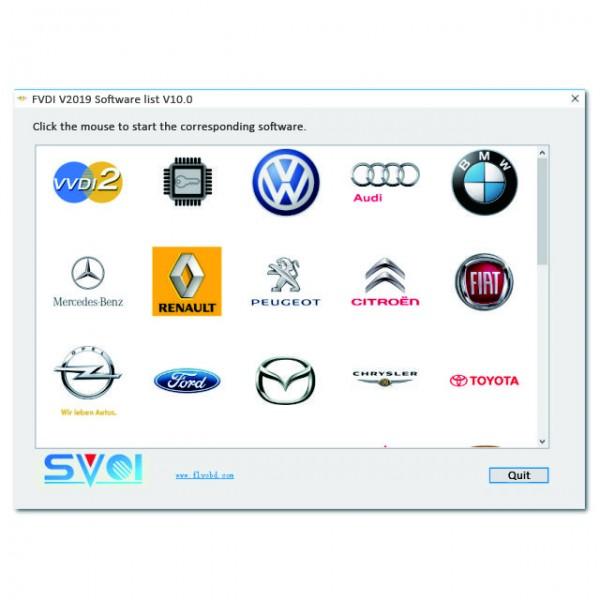 Original FVDI V2019 ABRITES Commander No limited with 24 Softwares