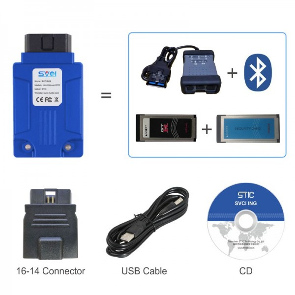 SVCI ING Infiniti/Nissan/GTR Professional Diagnostic Tool Support Programming