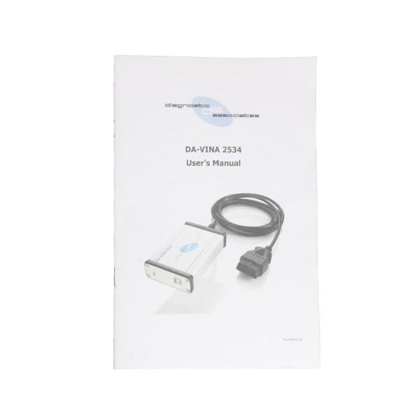 DA-VINA 2534 for Jaguar Land Rover Approved SAE J2534 Pass-Thru Interface