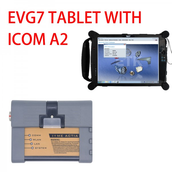 EVG7 tablet SSD HDD and ICOM A2+B+C Diagnostic & Programming Tool For BMW