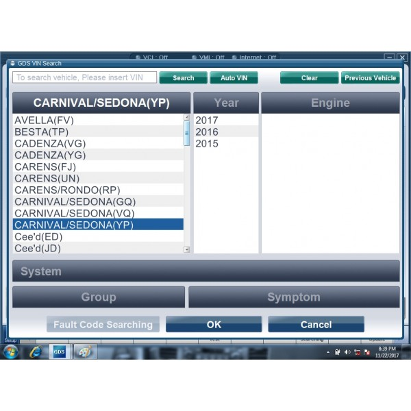 GDS VCI v2017 hard disk software mulit-language for Kia & Hyundai