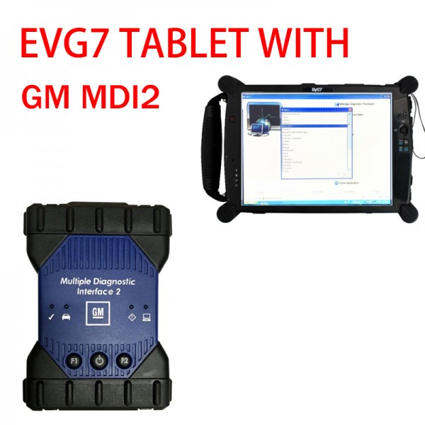 EVG7 tablet and Wifi GM MDI2 Tool with GDS2 TECH2WIN DPS