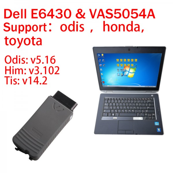Dell E6430 I5 with Vas5054A Include Audi VW Honda Toyota 3in1 software