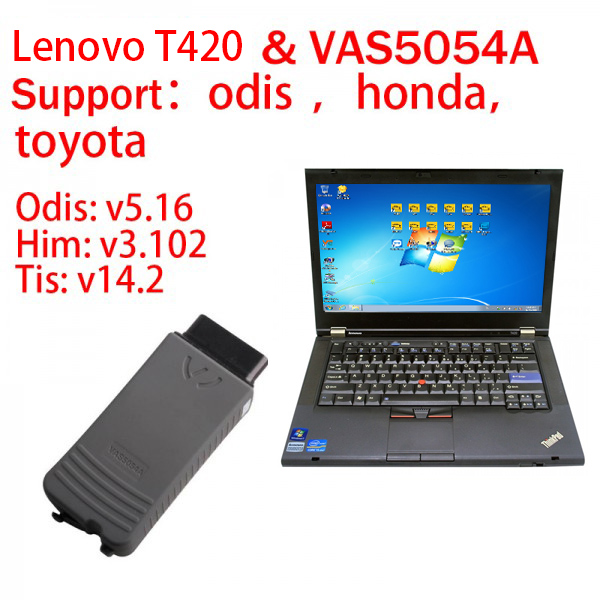 Lenovo T420 I5 with Vas5054A Include Audi VW Honda Toyota 3in1 software