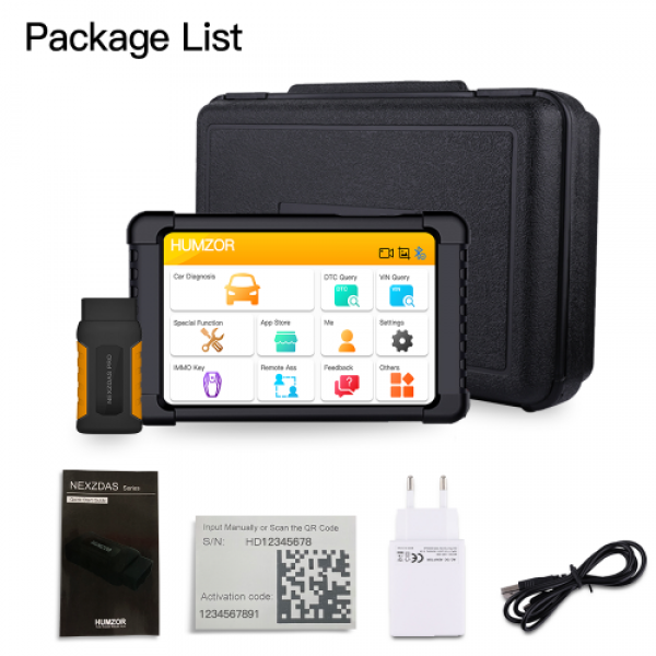 Humzor NexzDAS Pro Bluetooth 10inch Tablet Full System Auto Diagnostic Tool